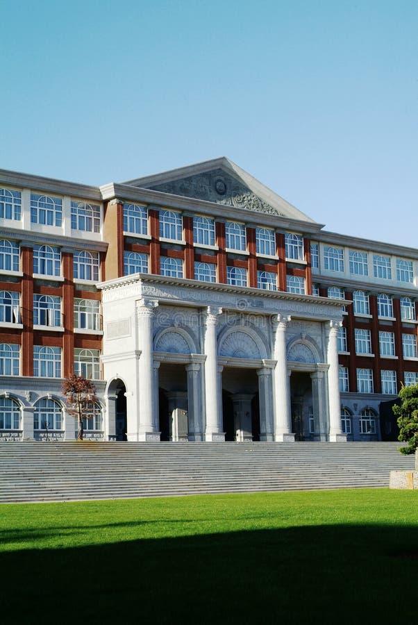 霍尔大厦在学院 免版税库存图片