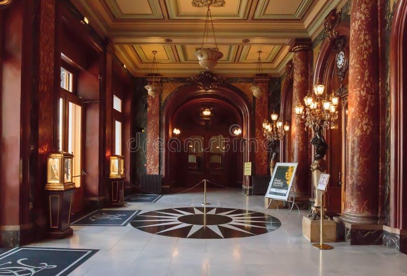 霍尔盛大赌博娱乐场在蒙地卡罗,摩纳哥 库存图片