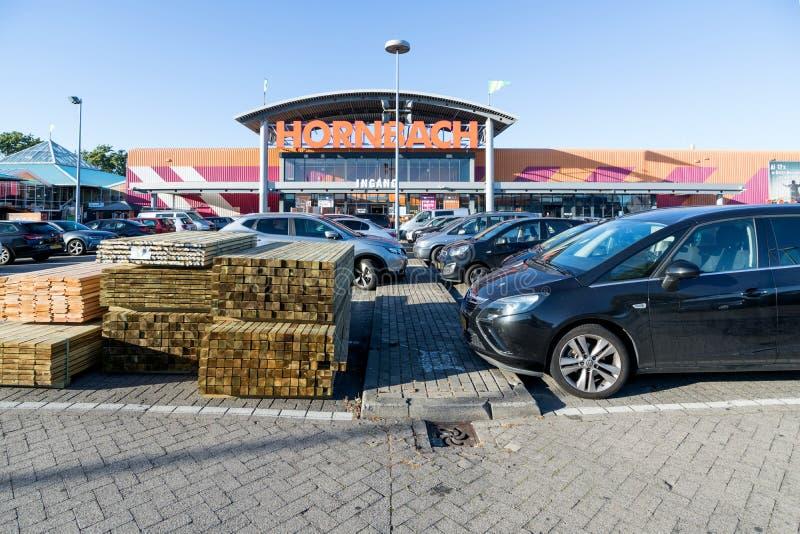 霍恩巴赫五金店在Wateringen,荷兰 免版税库存图片