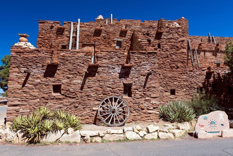 霍皮族房子在大峡谷国家公园,亚利桑那,美国 库存照片
