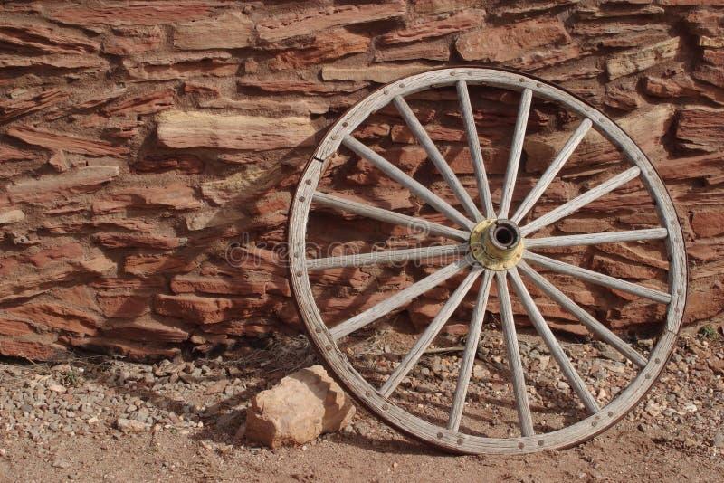 霍皮族房子马车车轮 免版税图库摄影