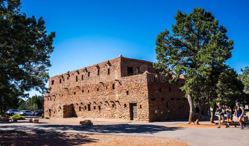 霍皮族房子 大峡谷村庄旅游胜地和大峡谷国家公园,亚利桑那 图库摄影