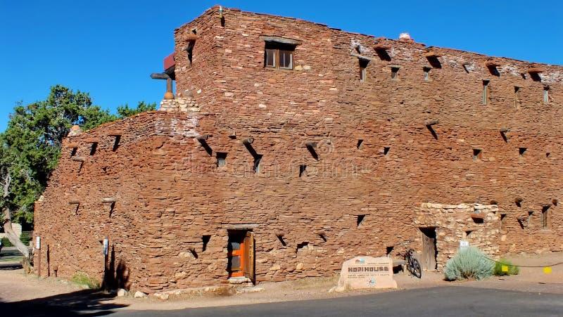 霍皮族议院在大峡谷村庄 图库摄影