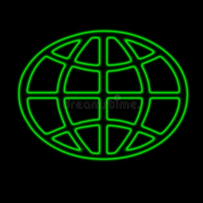 霓虹世界 向量例证