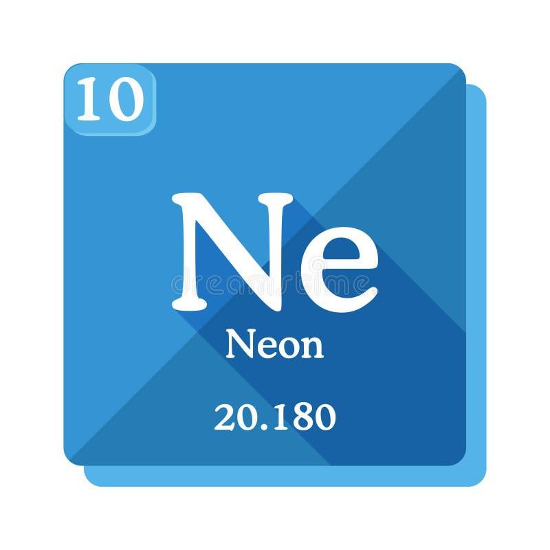 霓虹化学元素 要素周期表 向量例证