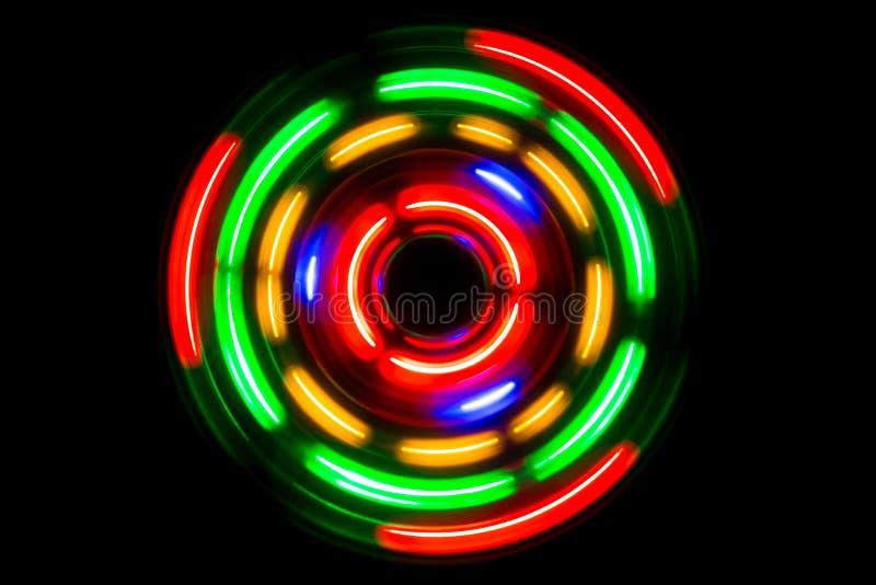 霓虹圈子 库存图片