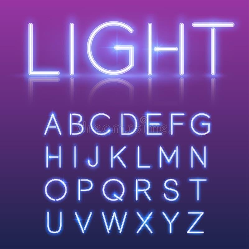 霓虹字母表 向量例证