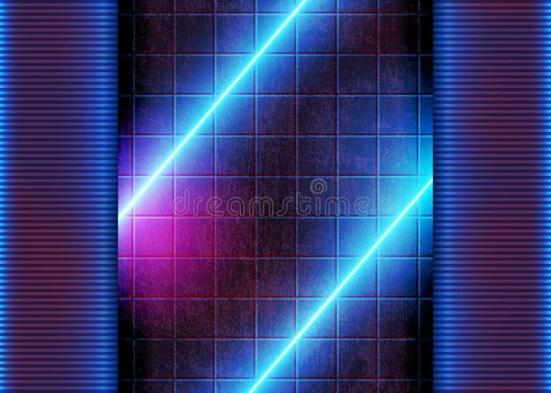 霓虹未来派发光 库存例证