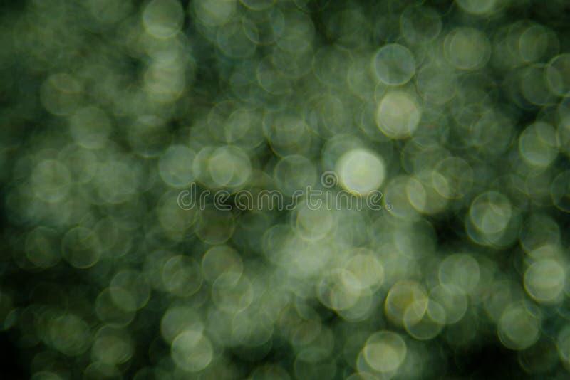 霓虹灯创造的绿色bokeh背景 图库摄影