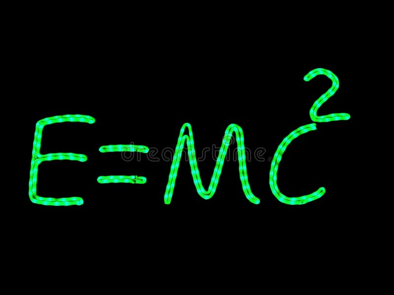 霓虹物理科学 库存图片
