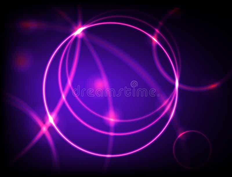 霓虹的箍 库存例证