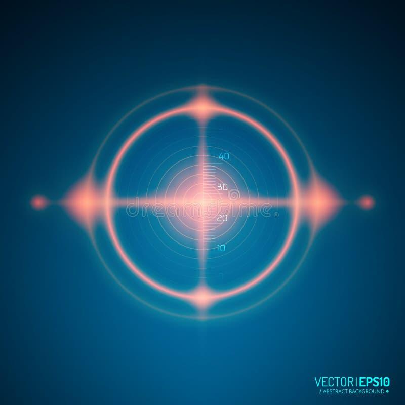 霓虹目标 比赛接口元素 向量 向量例证