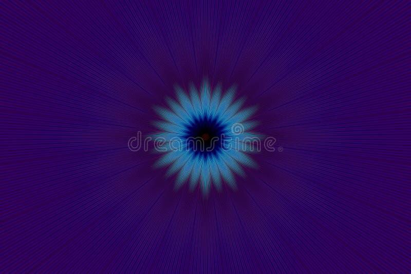 霓虹紫色发光的光芒射线 ?? 向量例证