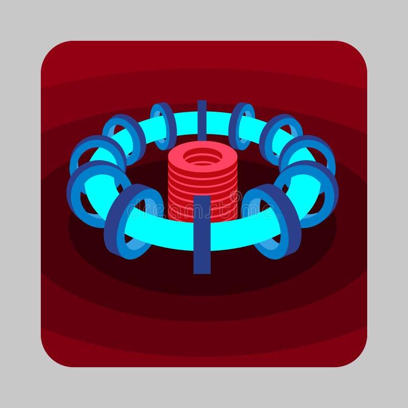 霓虹能量概念背景,动画片样式 向量例证