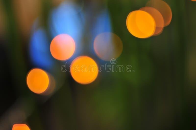 霓虹色的光 库存照片