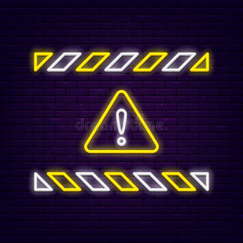 霓虹警报信号 皇族释放例证