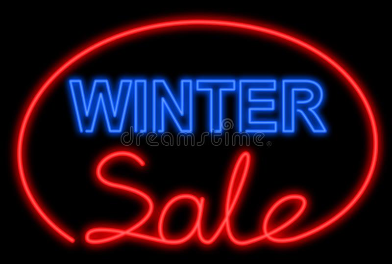 霓虹销售额冬天 向量例证