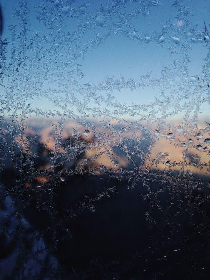 结霜的视窗 免版税库存图片