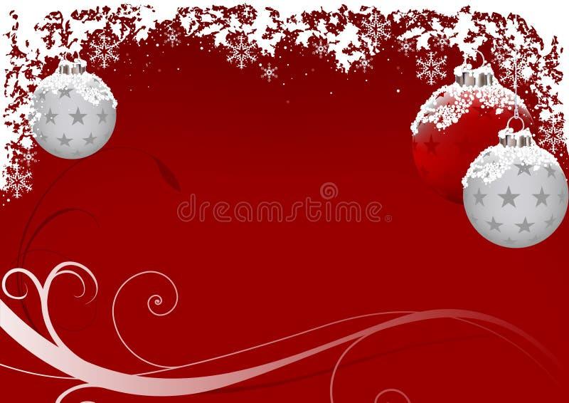 霜红色xmas 向量例证