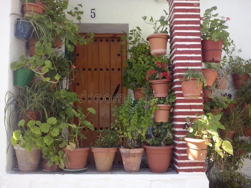 露台andaluz 免版税库存图片
