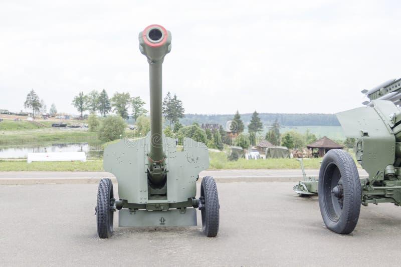 露天博物馆 第二次世界大战的火炮枪 库存图片