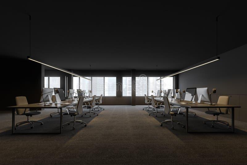 露天场所办公室侧视图在现代公司中 向量例证