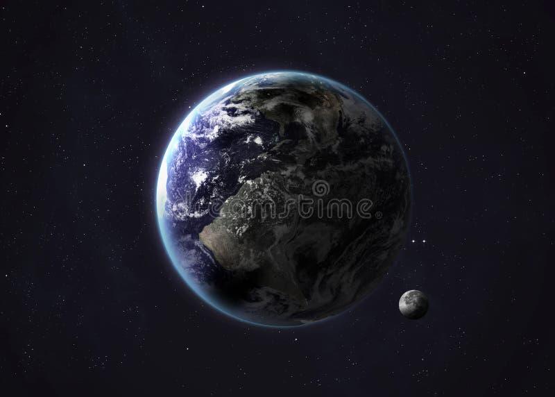 从露天场所采取的射击地球 拼贴画 免版税图库摄影