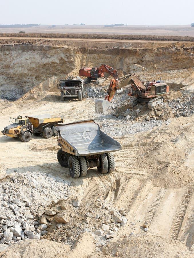 露天开采矿联合矿业在南非 库存照片