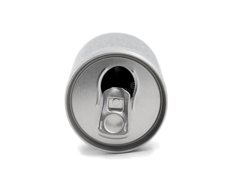露天的铝罐 库存照片