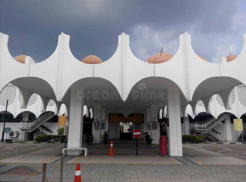 霹雳州状态清真寺在怡保,霹雳州,马来西亚 免版税库存图片