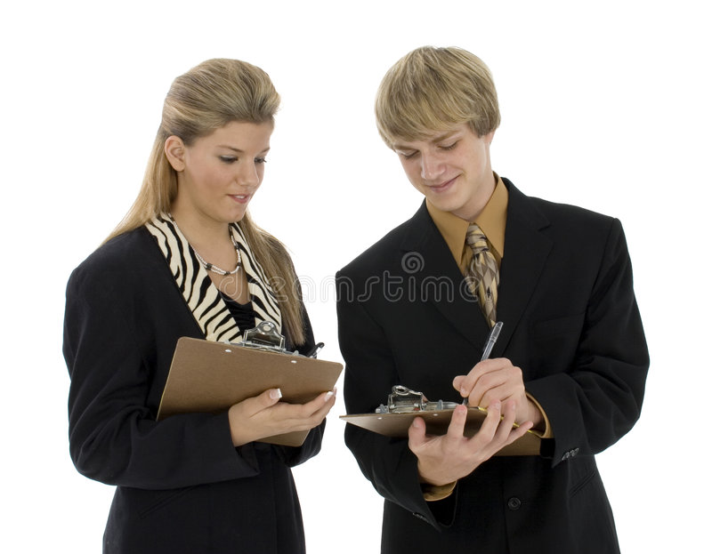 青少年企业的小组 库存照片