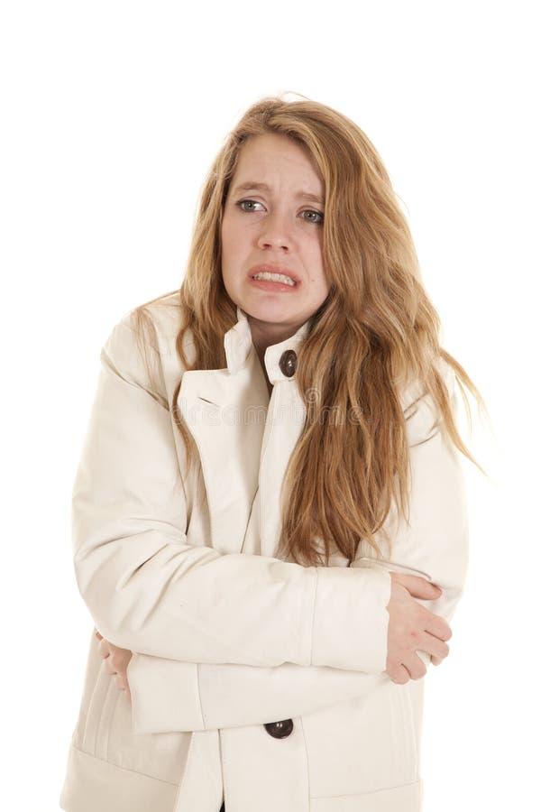 青少年冻结的夹克 免版税库存照片
