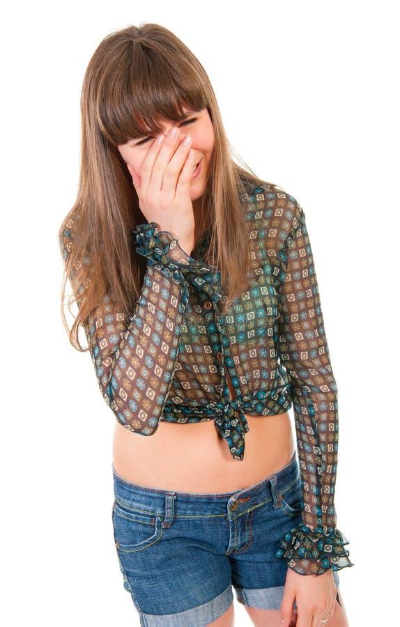 青少年哭泣的女孩 免版税库存图片