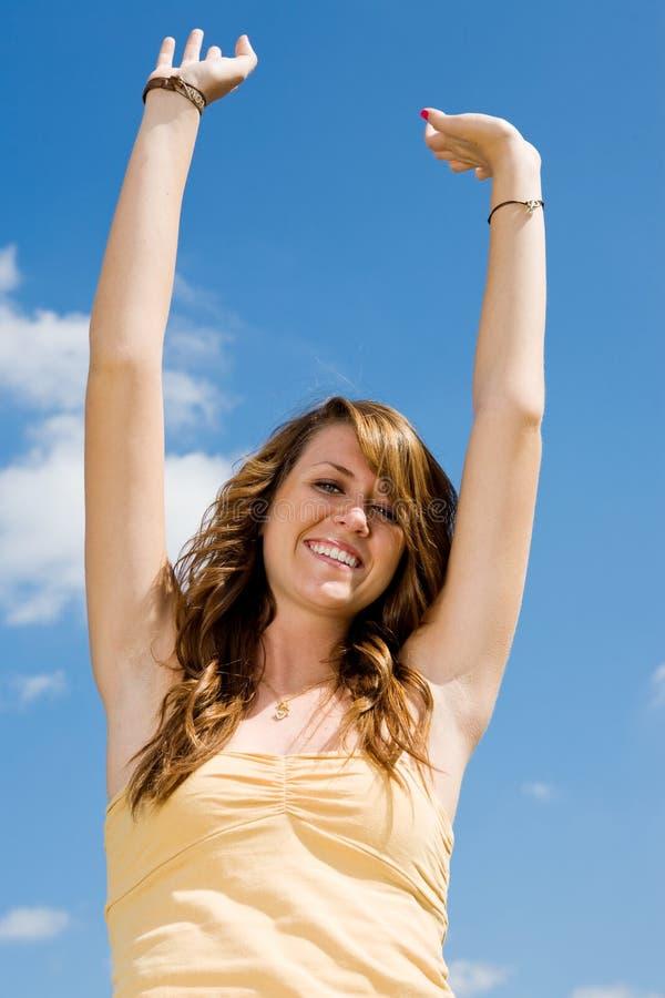 青少年女孩的幸福 免版税库存照片