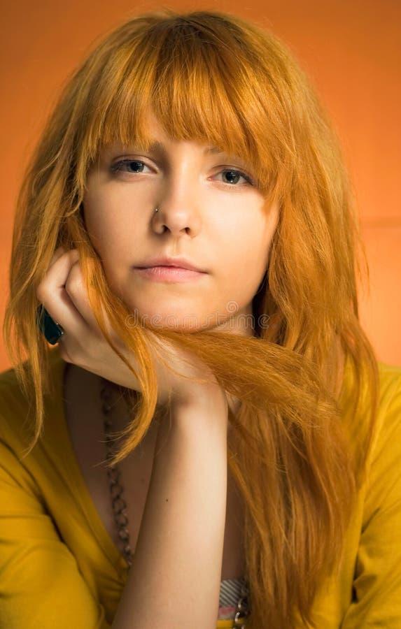 青少年态度的红头发人 免版税库存照片