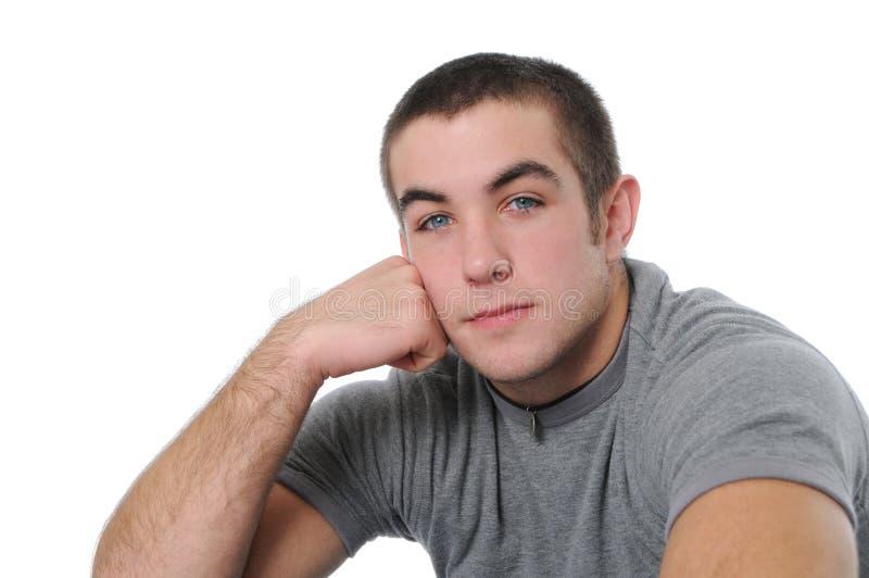 青少年男孩的纵向 库存照片