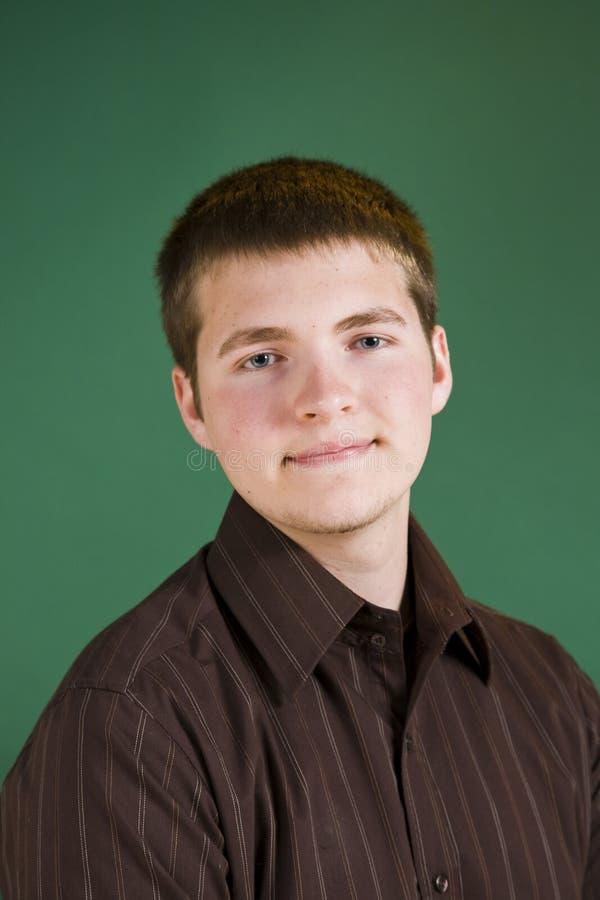青少年男性的纵向 库存图片