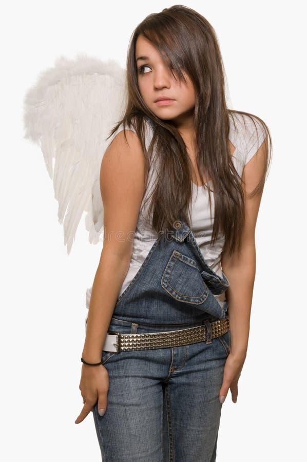 青少年的天使 库存图片
