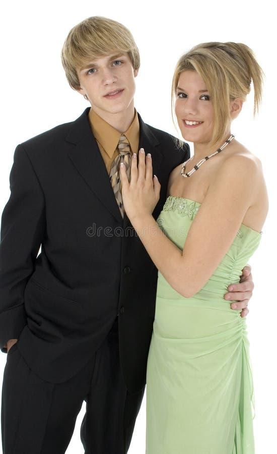 青少年的夫妇 免版税库存图片