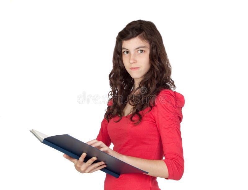青少年的女学生 免版税库存照片