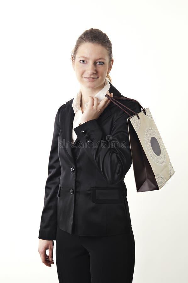 青少年的女孩购物 免版税库存图片
