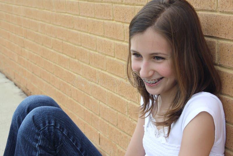 青少年的女孩 库存图片
