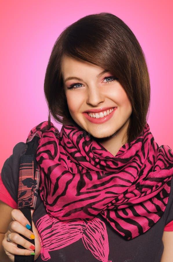 青少年的女小学生 库存图片