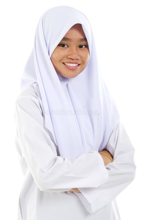 青少年的穆斯林 库存照片