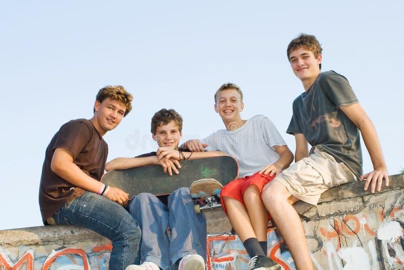 青少年的组 免版税库存图片