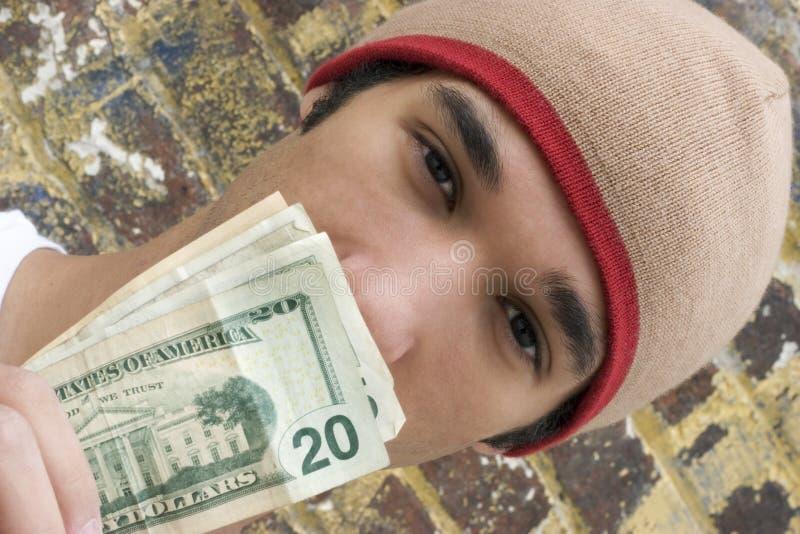 青少年的货币 免版税库存照片