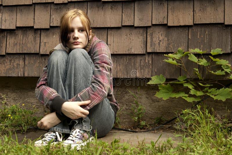 青少年的逃亡 库存图片