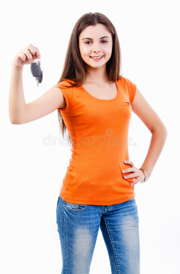 青少年的驱动器 库存图片