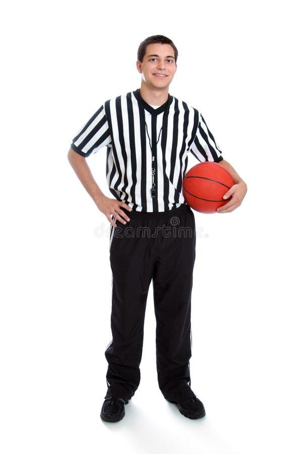 青少年篮球的裁判 库存图片
