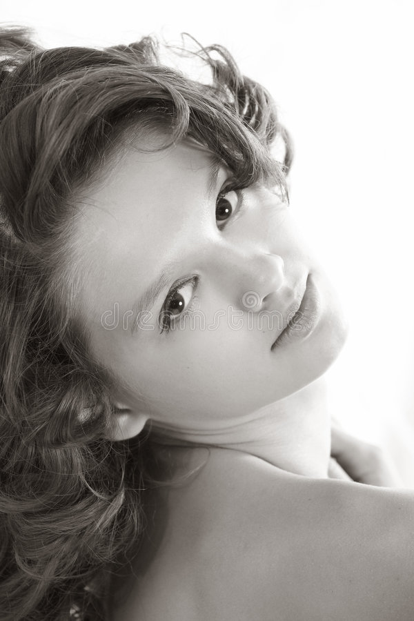 青少年美丽的女孩 库存照片